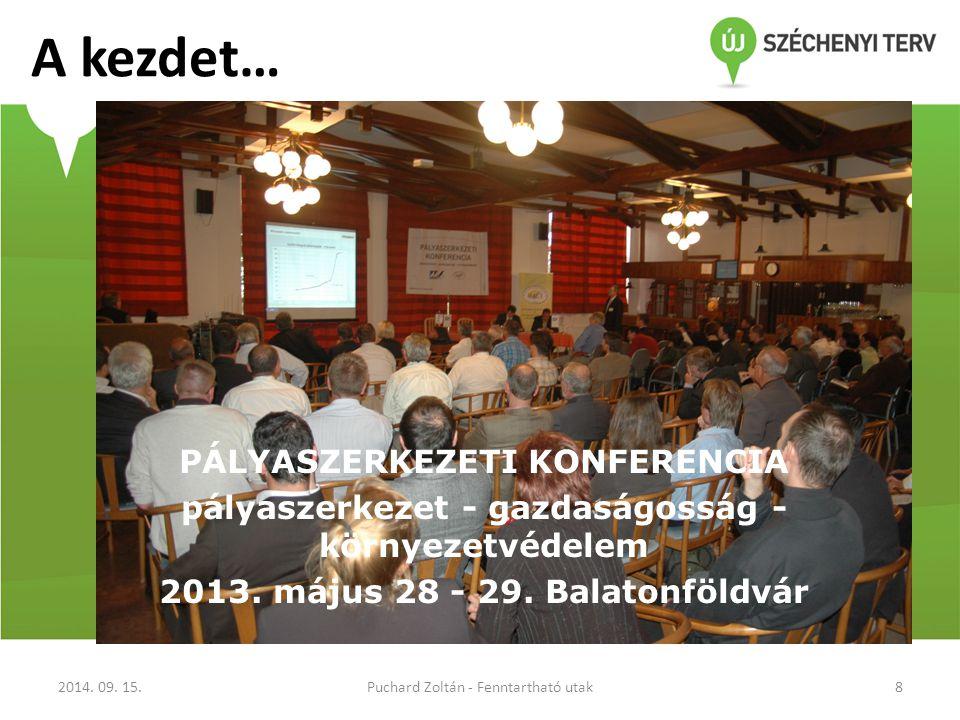 A kezdet… PÁLYASZERKEZETI KONFERENCIA pályaszerkezet - gazdaságosság - környezetvédelem 2013.
