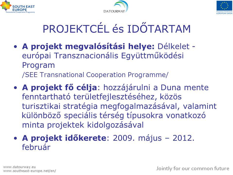 PROJEKTCÉL és IDŐTARTAM A projekt megvalósítási helye: Délkelet - európai Transznacionális Együttműködési Program /SEE Transnational Cooperation Progr