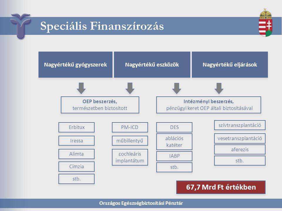 Országos Egészségbiztosítási Pénztár Speciális Finanszírozás Nagyértékű eszközök Erbitux Nagyértékű gyógyszerek Intézményi beszerzés, pénzügyi keret O