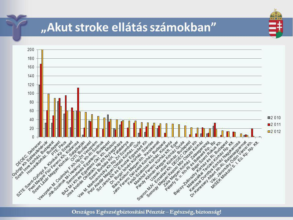 """Országos Egészségbiztosítási Pénztár – Egészség, biztonság! """"Akut stroke ellátás számokban"""""""