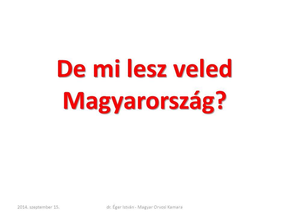 De mi lesz veled Magyarország? 2014. szeptember 15.dr. Éger István - Magyar Orvosi Kamara