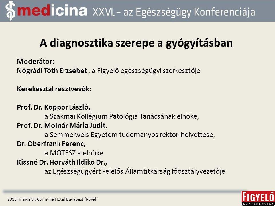 A diagnosztika szerepe a gyógyításban 2013.