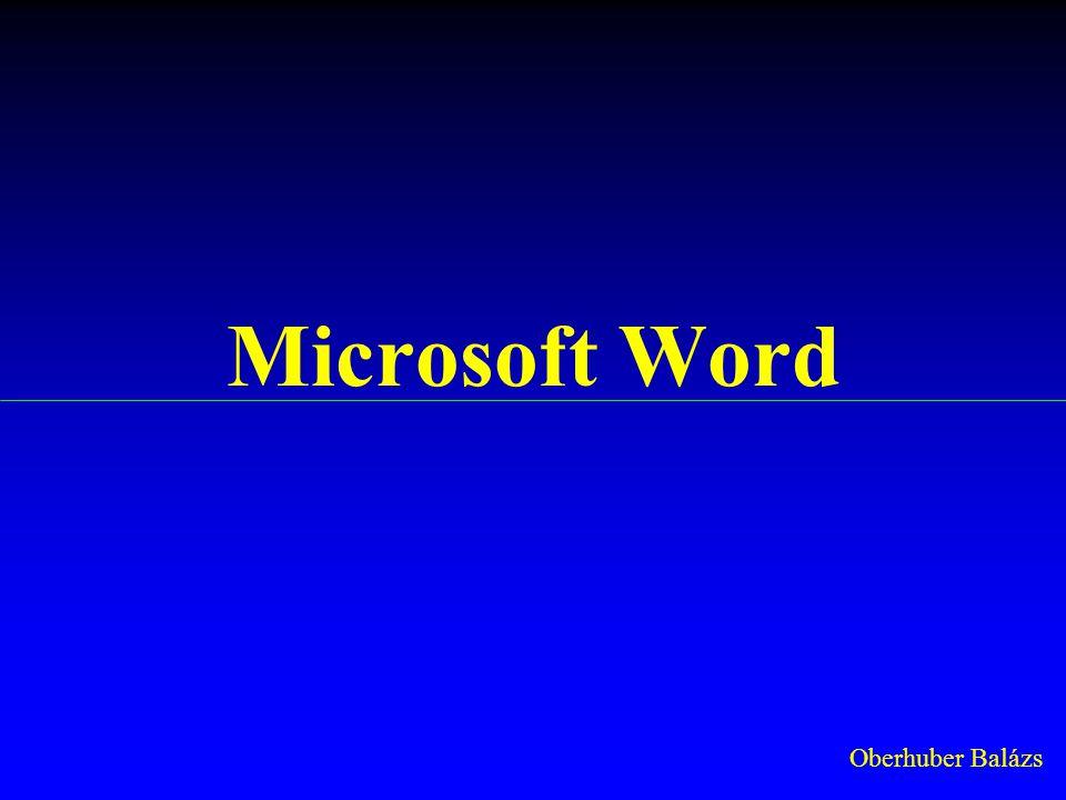 Microsoft Word Oberhuber Balázs