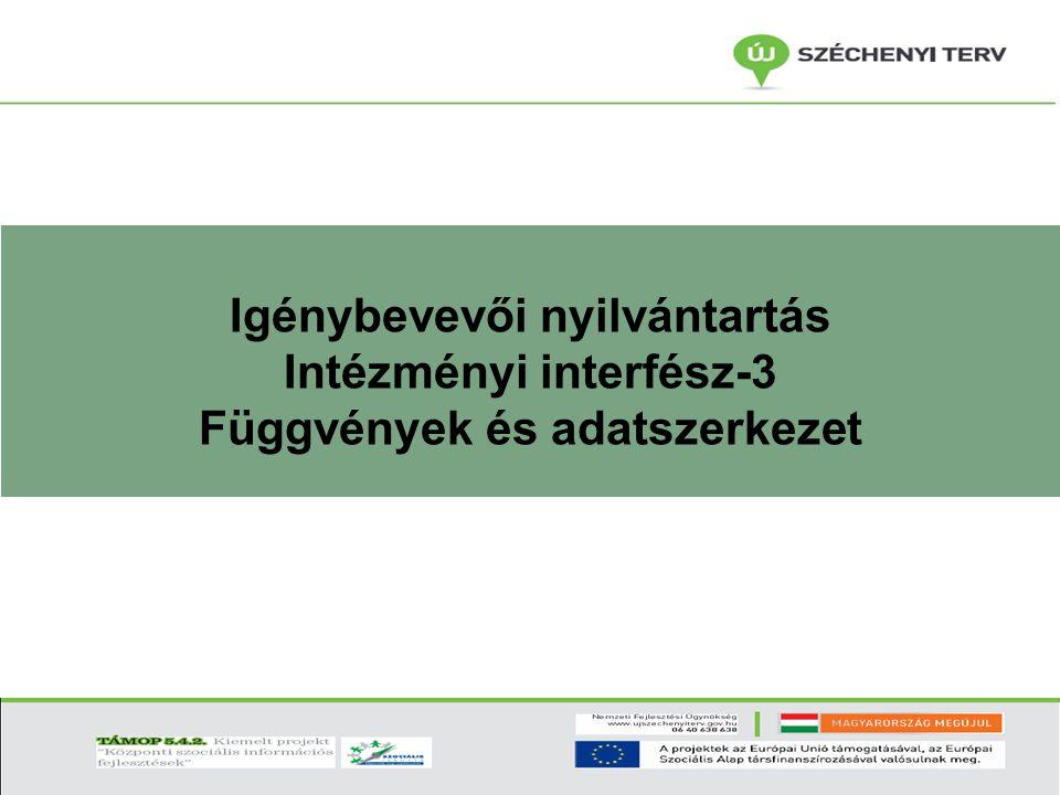 Igénybevevői nyilvántartás Intézményi interfész-3 Függvények és adatszerkezet