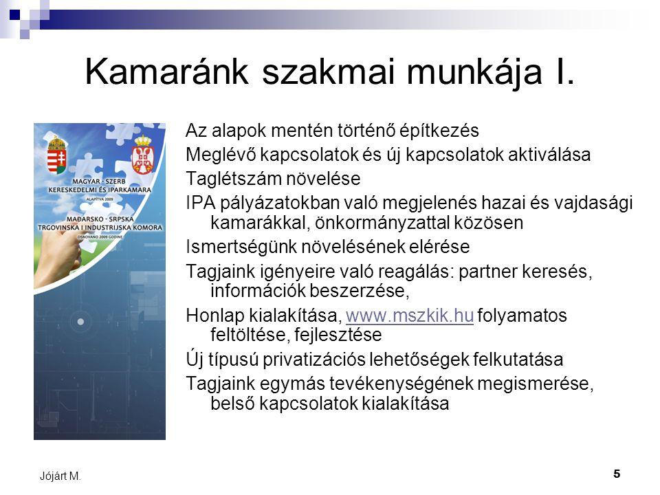 5 Jójárt M. Kamaránk szakmai munkája I.
