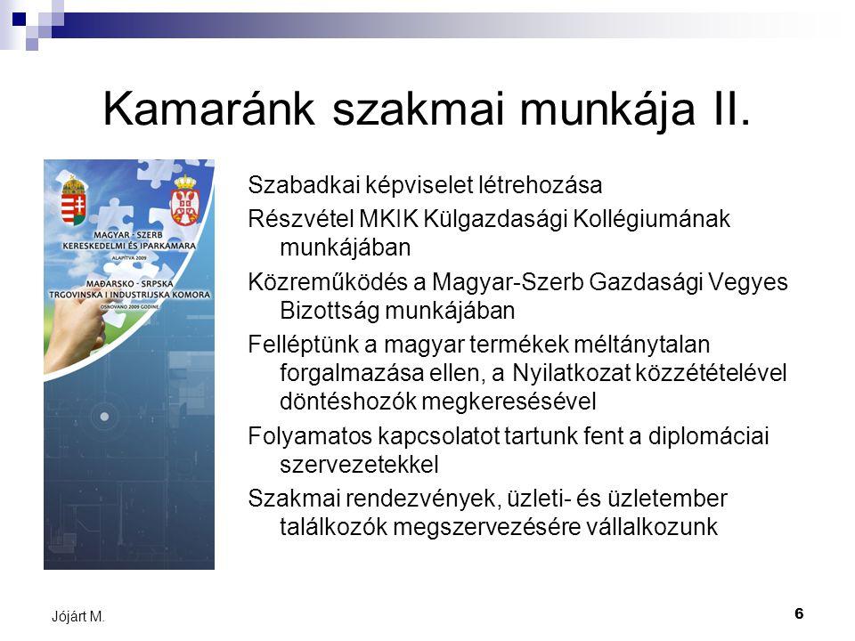 6 Jójárt M. Kamaránk szakmai munkája II.