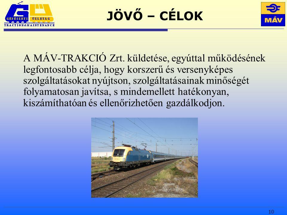 10 JÖVŐ – CÉLOK A MÁV-TRAKCIÓ Zrt.