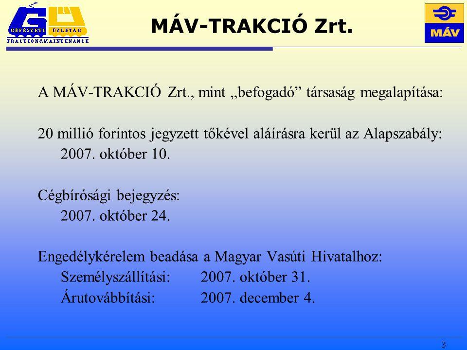 3 MÁV-TRAKCIÓ Zrt.