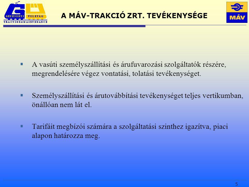 5 A MÁV-TRAKCIÓ ZRT.
