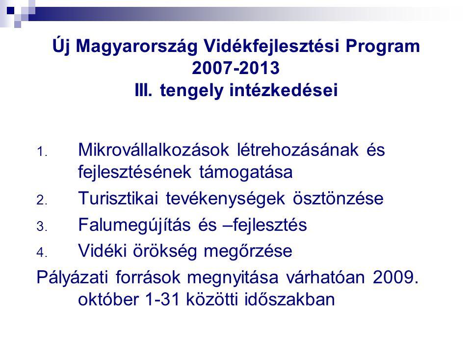 Új Magyarország Vidékfejlesztési Program 2007-2013 III.