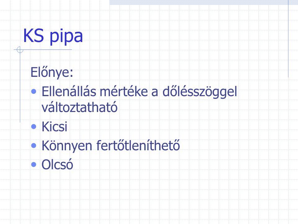KS pipa Kontraindikációi(ellenjavallatok): PTX(légmell) Bronhus bevérzése, vérköpés Artériás aneurizma(értágulat)