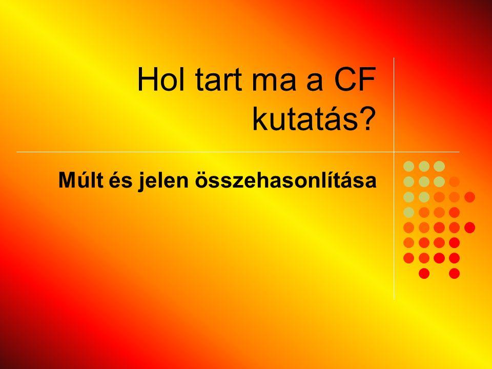 Hol tart ma a CF kutatás? Múlt és jelen összehasonlítása
