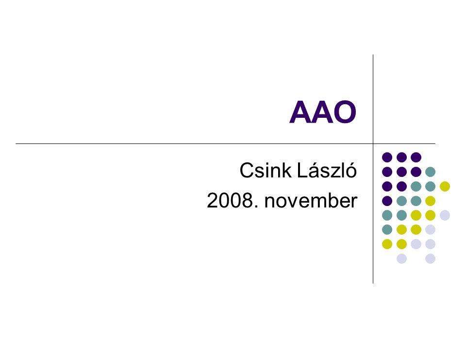 AAO Csink László 2008. november