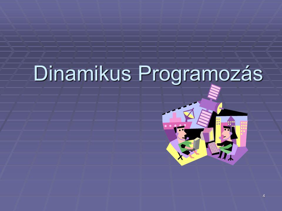 4 Dinamikus Programozás