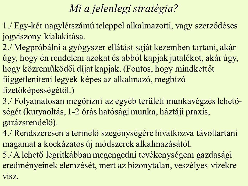 Mi a jelenlegi stratégia.