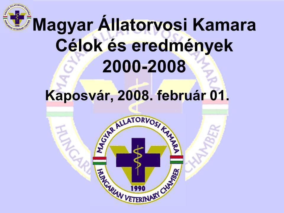 Magyar Állatorvosi Kamara Célok és eredmények 2000-2008 Kaposvár, 2008. február 01.