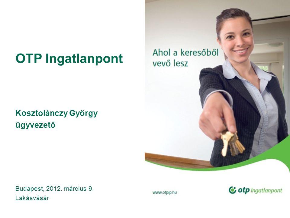 OTP Ingatlanpont Kosztolánczy György ügyvezető Budapest, 2012. március 9. Lakásvásár