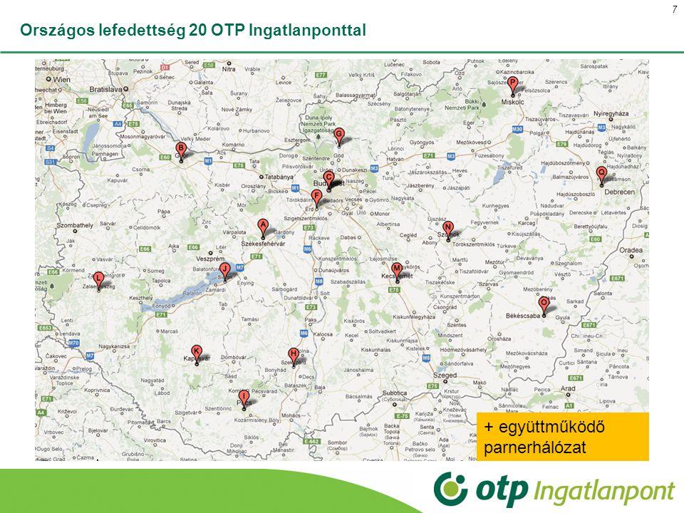 Országos lefedettség 20 OTP Ingatlanponttal 7 + együttműködő parnerhálózat