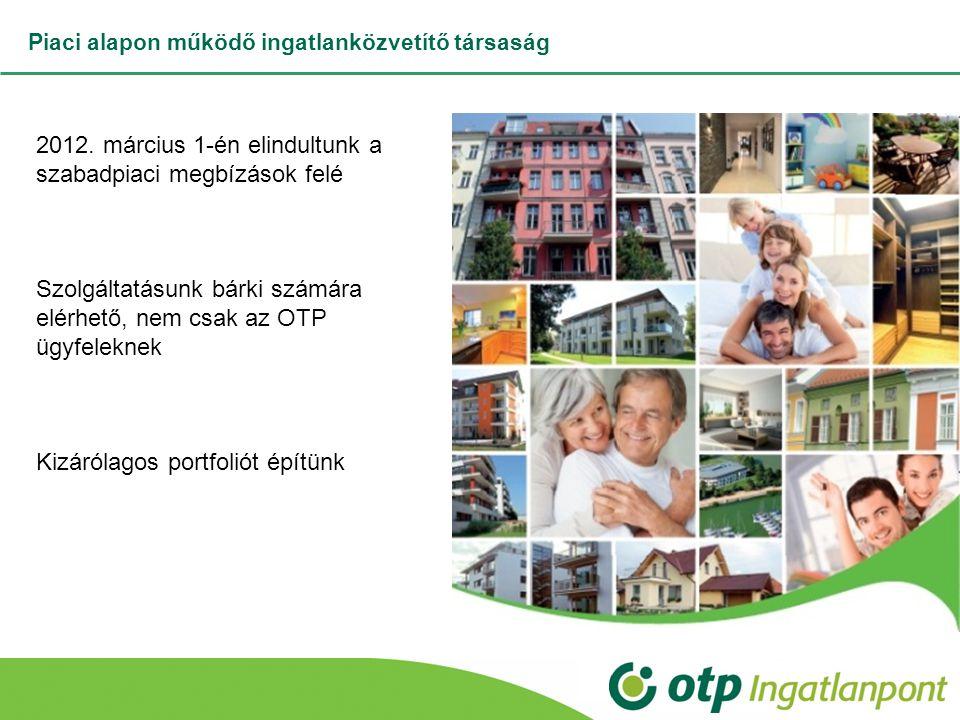 Piaci alapon működő ingatlanközvetítő társaság 2012. március 1-én elindultunk a szabadpiaci megbízások felé Szolgáltatásunk bárki számára elérhető, ne