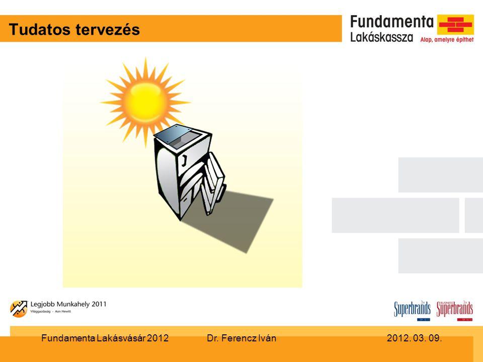 Tudatos tervezés Dr. Ferencz Iván2012. 03. 09.Fundamenta Lakásvásár 2012