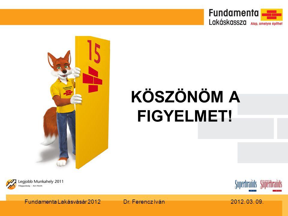 Dr. Ferencz Iván2012. 03. 09.Fundamenta Lakásvásár 2012 KÖSZÖNÖM A FIGYELMET!