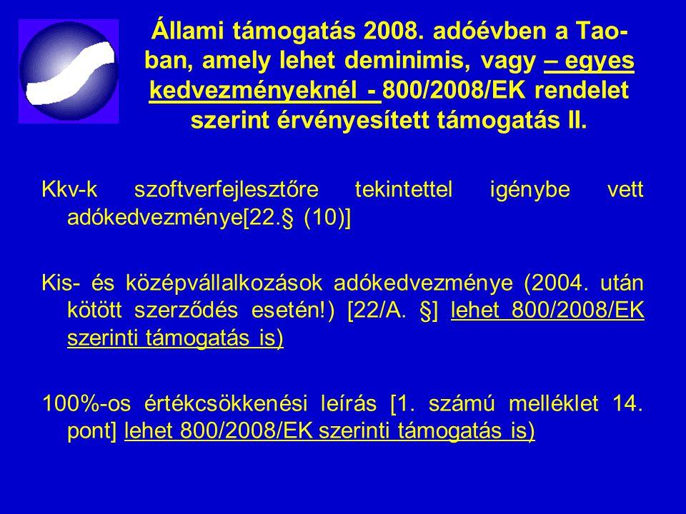Állami támogatás 2008.
