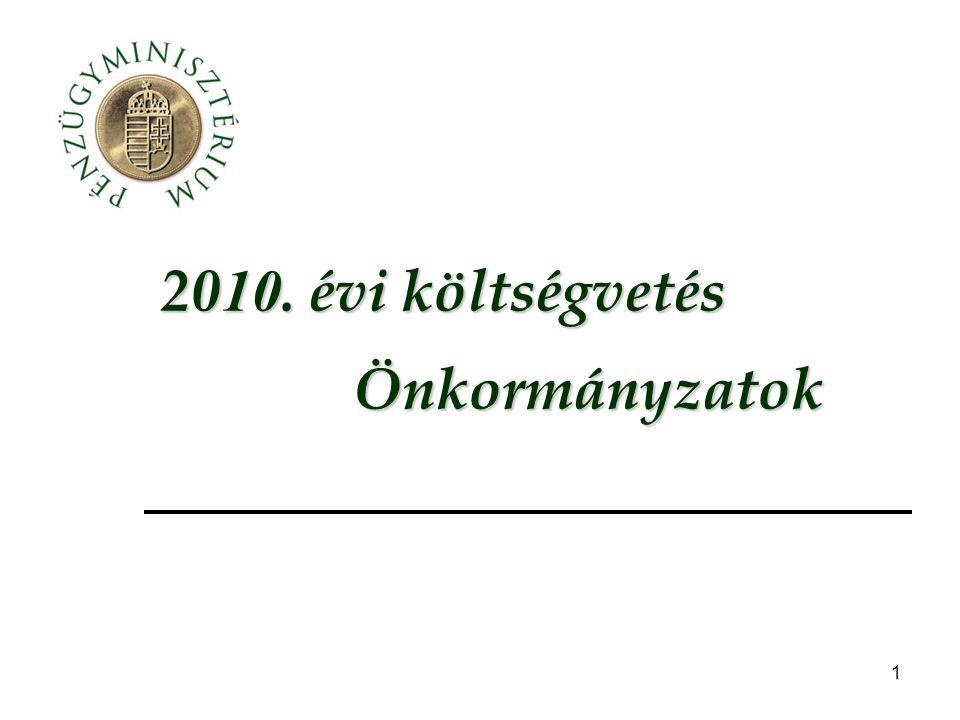 """32 """"ÖNHIKI támogatás Az ÖNHIKI-ben a támogatás egyik alapját jelentő 2009."""