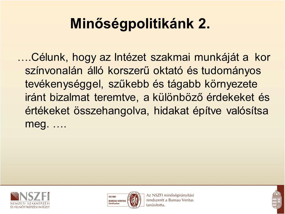 Minőségpolitikánk 2.