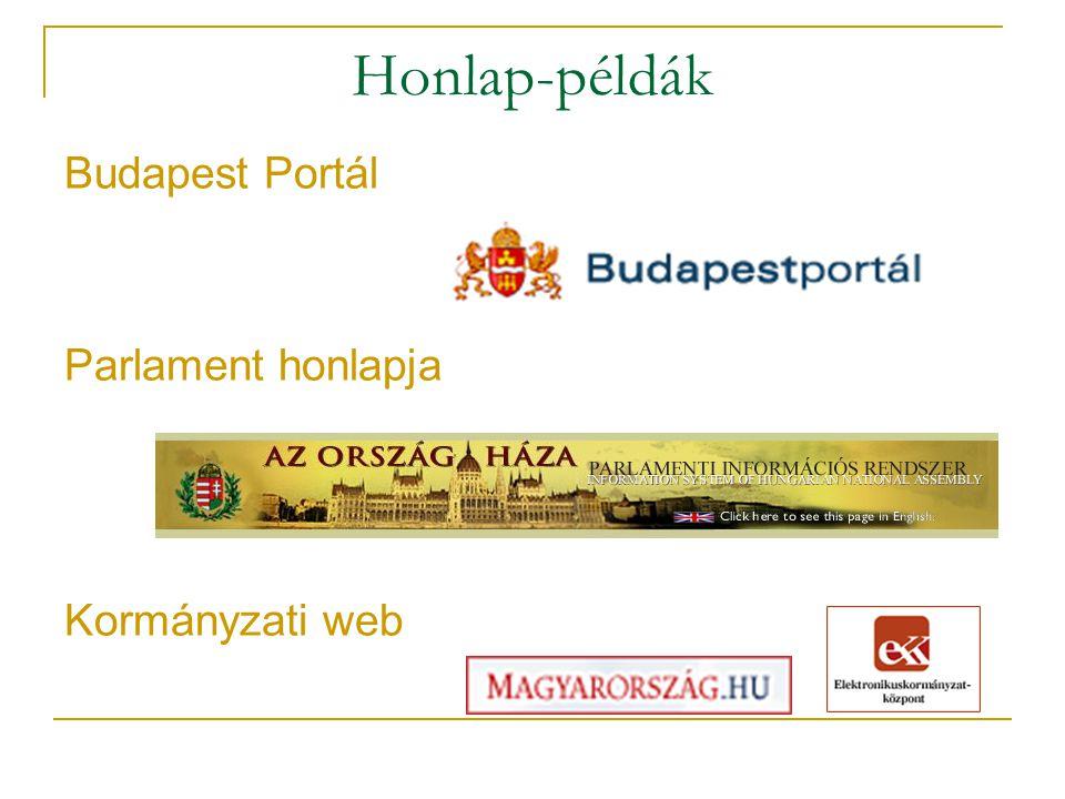 Honlap-példák Budapest Portál Parlament honlapja Kormányzati web