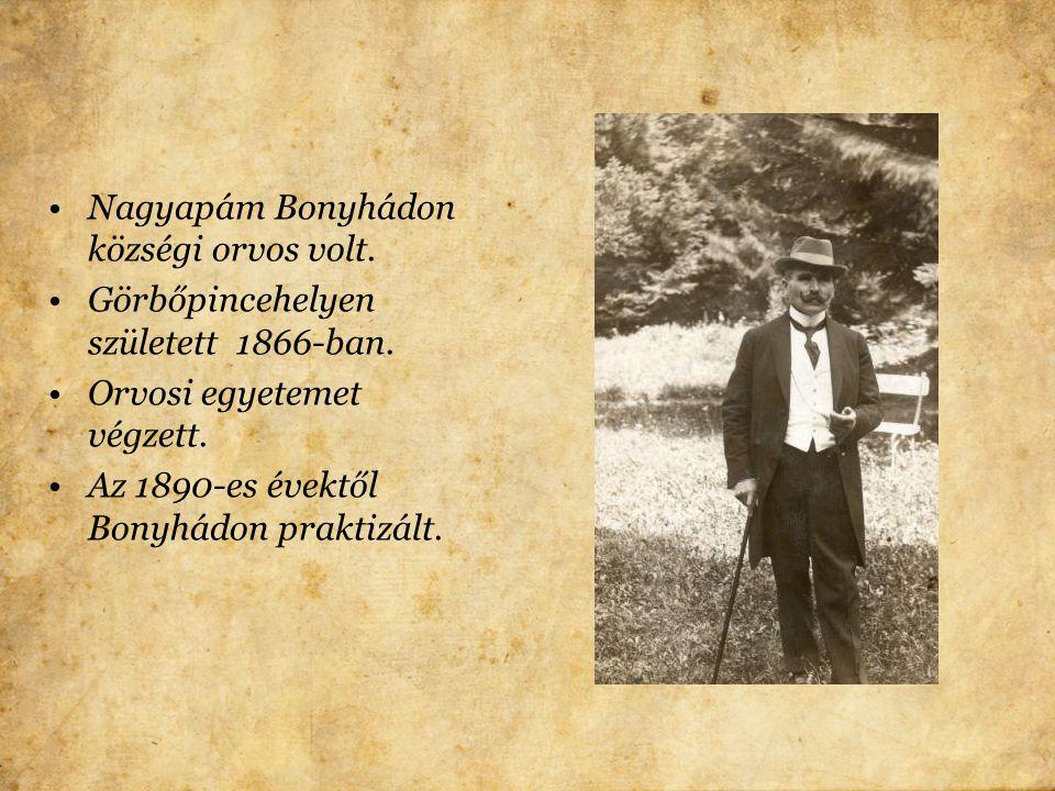 Bonyhádon születtem 1922-ben. Bonyhád Tolna megyében van,a család egy része tipikusan tolna megyei.