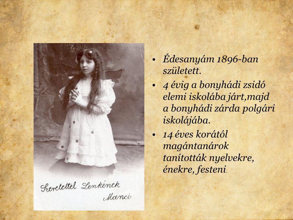 Nagyapám Bonyhádon községi orvos volt. Görbőpincehelyen született 1866-ban. Orvosi egyetemet végzett. Az 1890-es évektől Bonyhádon praktizált.