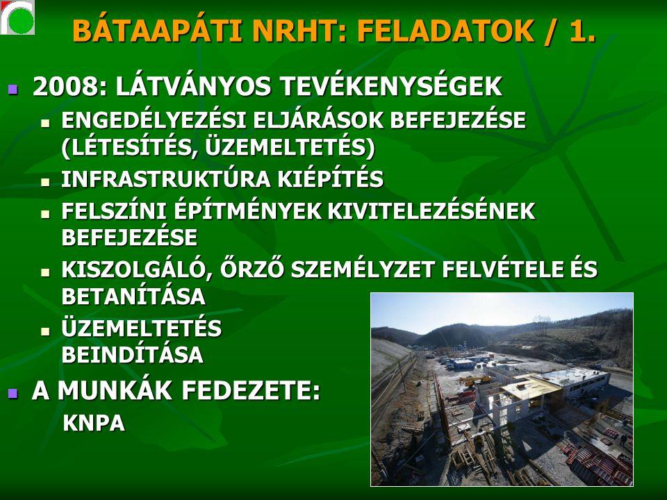 BÁTAAPÁTI NRHT: FELADATOK / 1.
