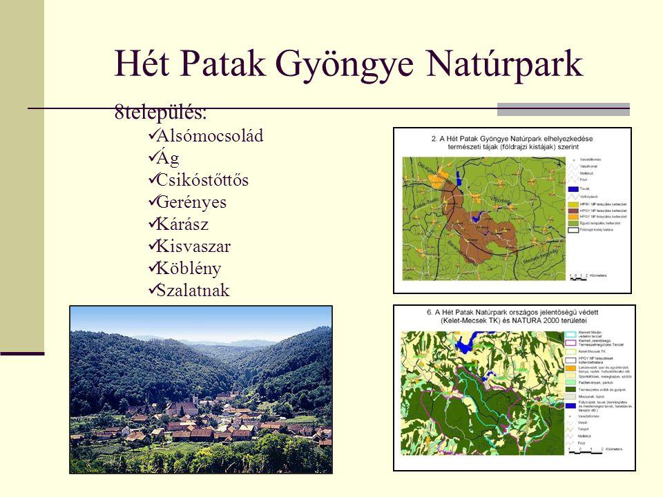 Hét Patak Gyöngye Natúrpark 8település: Alsómocsolád Ág Csikóstőttős Gerényes Kárász Kisvaszar Köblény Szalatnak