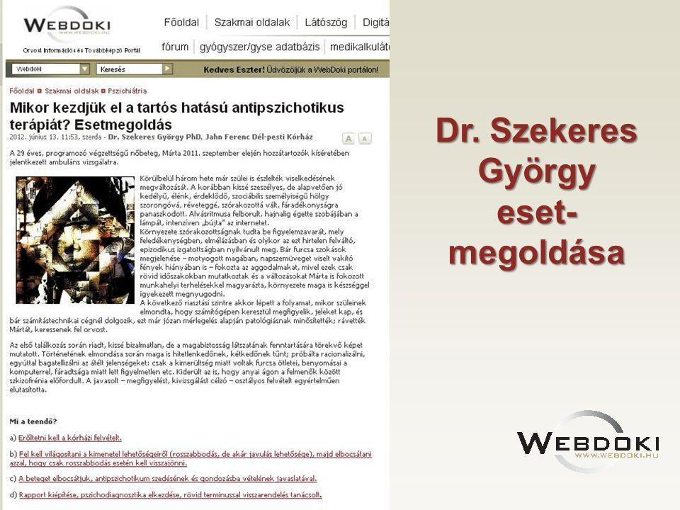 Dr. Szekeres György eset- megoldása