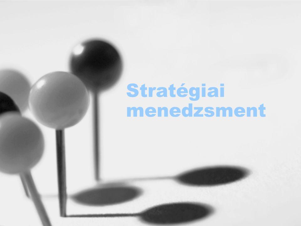 Ellenőrzés és visszacsatolás Információszolgáltatás a vezetésnek Elért eredményekről, problémákról, a megvalósítás menetéről Kontrolling rendszer