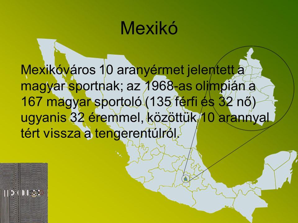 Mexikó Az 1968-as nyári játékok rendezését Latin-Amerika, Mexikóváros kapta, amely 2240 méterrel fekszik a tengerszint felett. A versenyzők azonban ne