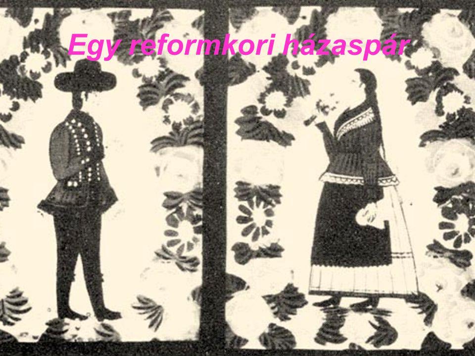A reformkori házaspárok népviselete