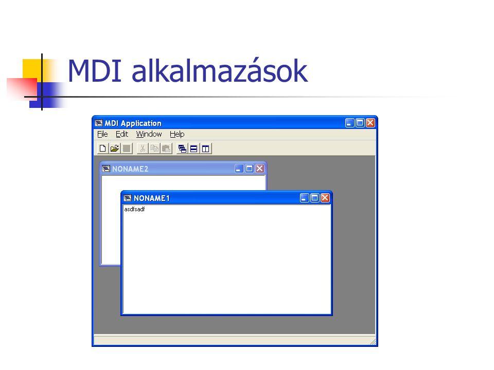 MDI alkalmazások