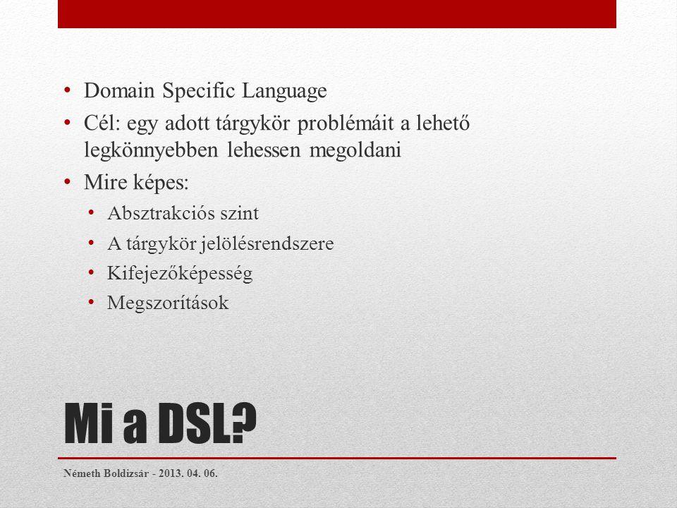 Mi a DSL.
