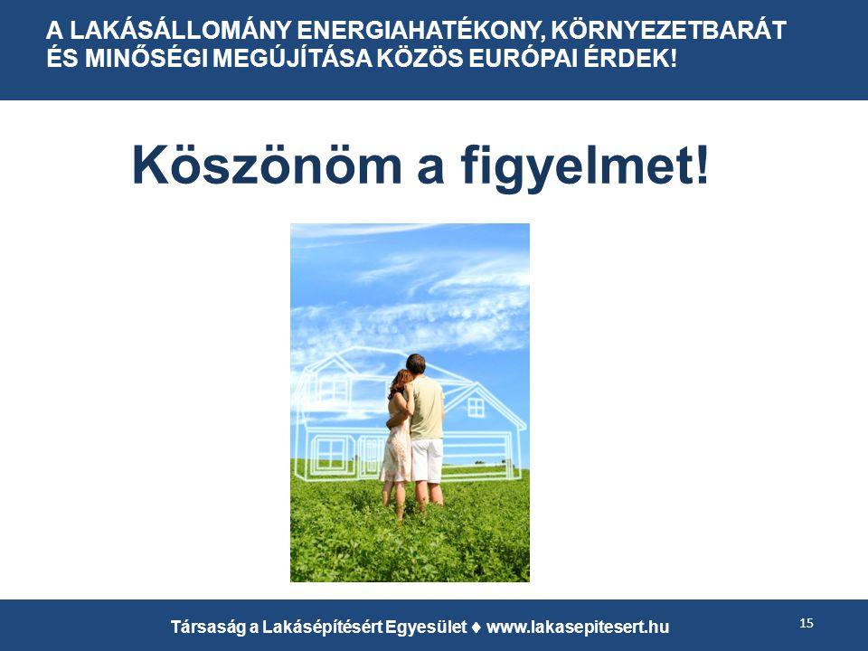 A LAKÁSÁLLOMÁNY ENERGIAHATÉKONY, KÖRNYEZETBARÁT ÉS MINŐSÉGI MEGÚJÍTÁSA KÖZÖS EURÓPAI ÉRDEK.