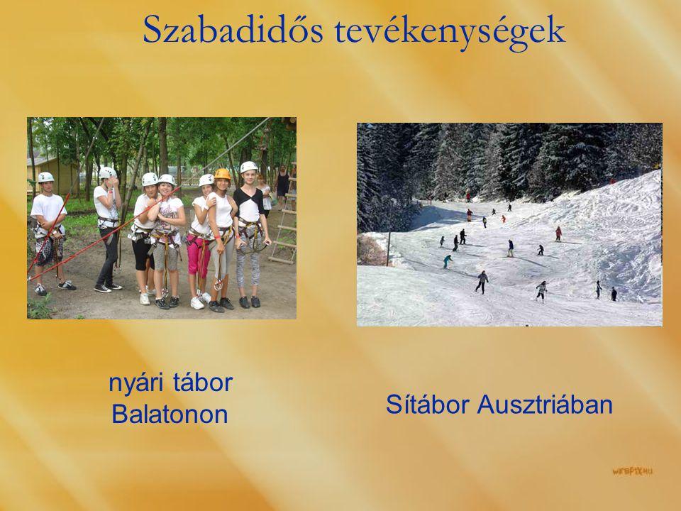 Szabadidős tevékenységek nyári tábor Balatonon Sítábor Ausztriában