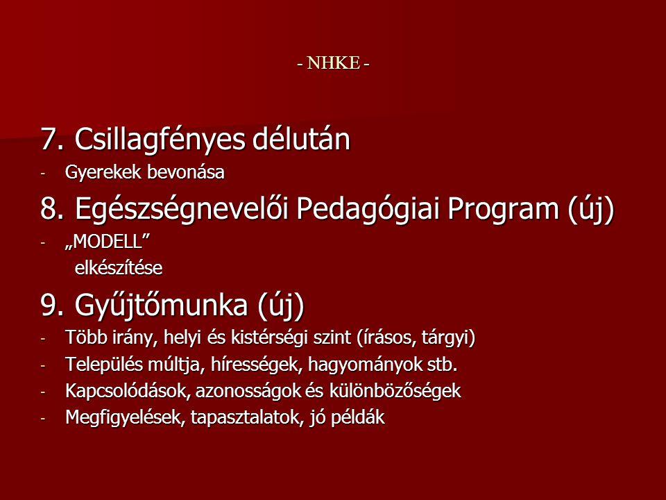 - NHKE - II.Tovább fejleszthető irányvonalak 1.