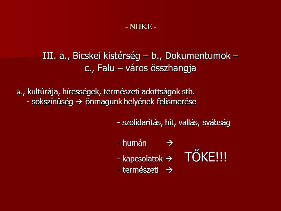 - NHKE - III.