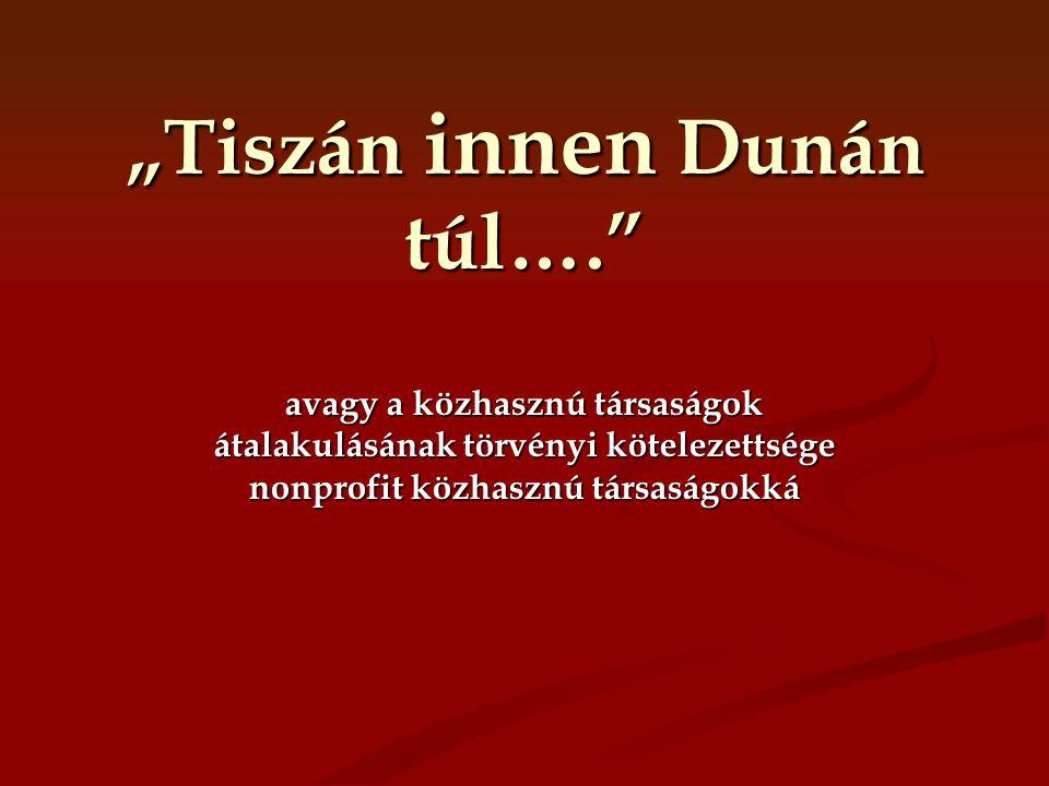 """""""Tiszán innen Dunán túl…."""" avagy a közhasznú társaságok átalakulásának törvényi kötelezettsége nonprofit közhasznú társaságokká"""