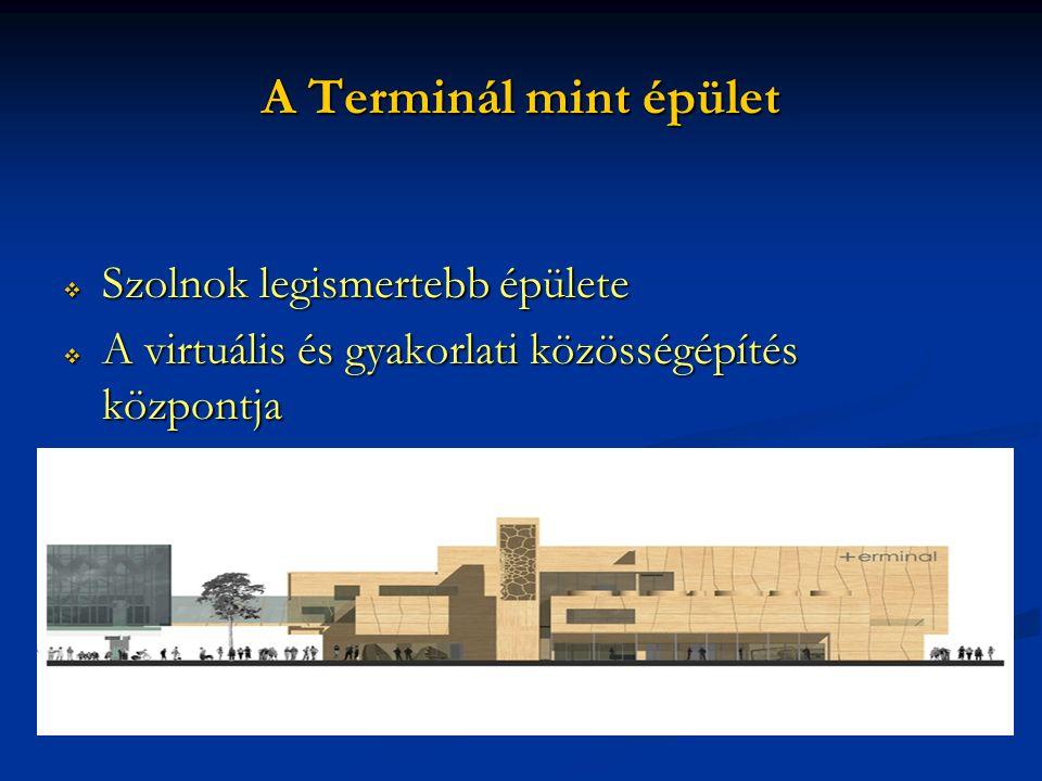 A Terminál mint épület  Szolnok legismertebb épülete  A virtuális és gyakorlati közösségépítés központja
