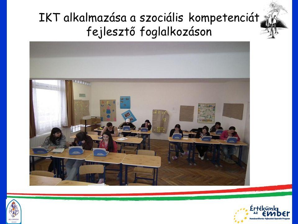 IKT alkalmazása a szociális kompetenciát fejlesztő foglalkozáson