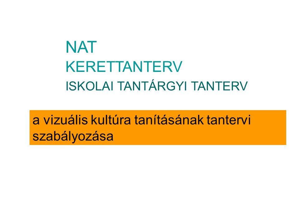 KERETTANTERV ISKOLAI TANTÁRGYI TANTERV NAT a vizuális kultúra tanításának tantervi szabályozása