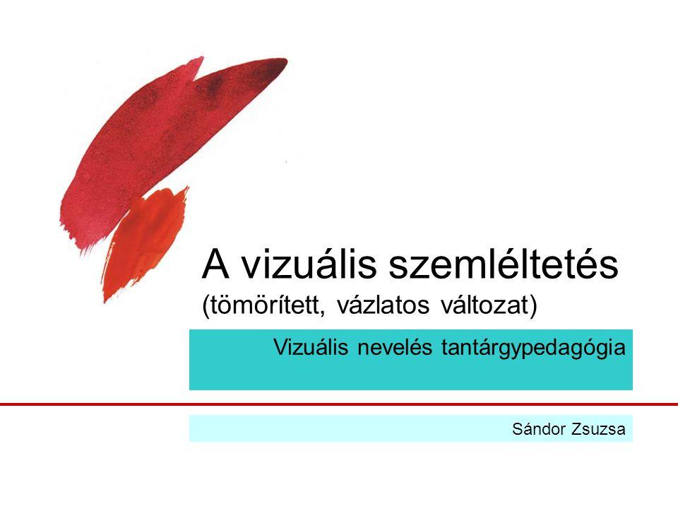 A vizuális szemléltetés (tömörített, vázlatos változat) Vizuális nevelés tantárgypedagógia Sándor Zsuzsa