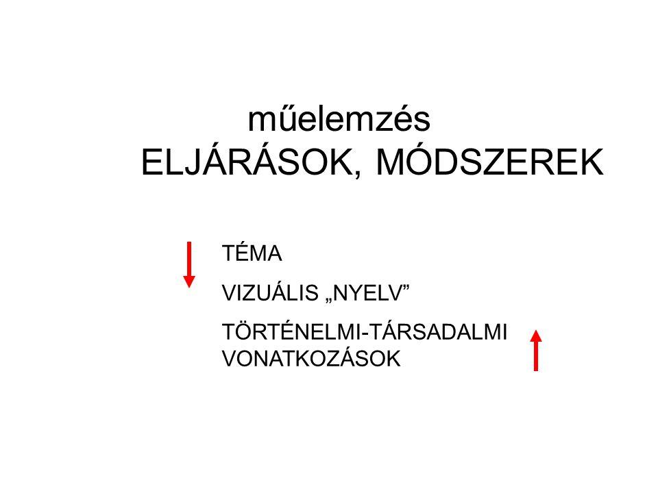 """műelemzés ELJÁRÁSOK, MÓDSZEREK TÉMA VIZUÁLIS """"NYELV"""" TÖRTÉNELMI-TÁRSADALMI VONATKOZÁSOK"""