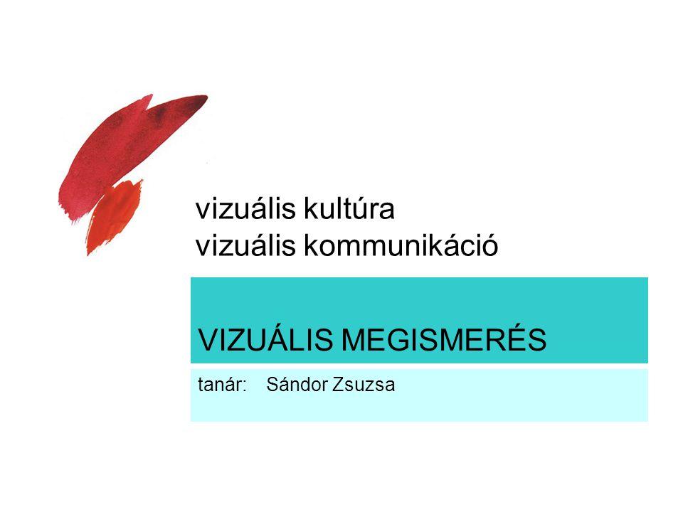 VIZUÁLIS MEGISMERÉS tanár: Sándor Zsuzsa vizuális kultúra vizuális kommunikáció